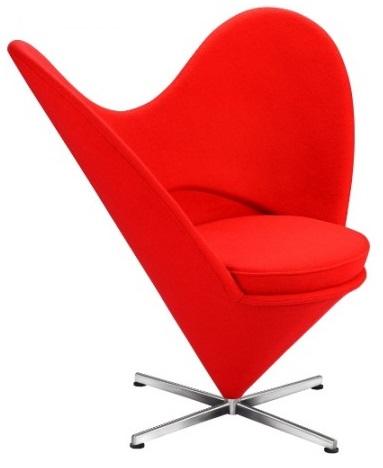 verner panton stol Verner Panton Hjertestol – Hjerte Cone Hvilestol – DesignStoler.net verner panton stol